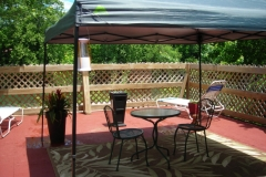 Arrowhead Campground Honeymoon Cabin Deck over current river Eminence MO