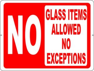 No_Glass_Items_Allowed_Sign_Arrowhead_Campground